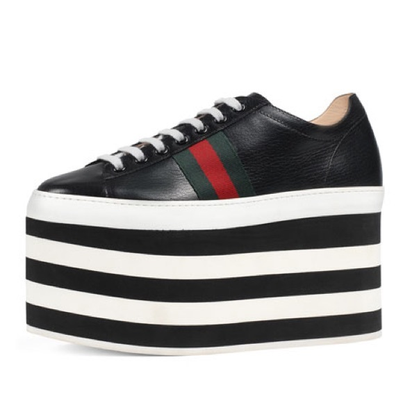 Gucci Peggy Platform Sneakers In Black
